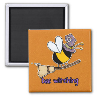bee witching square magnet