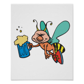 bee with a buzz poster