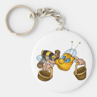 Bee With Buckets Keychain