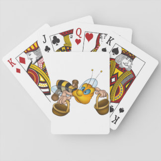 Bee With Buckets Playing Cards