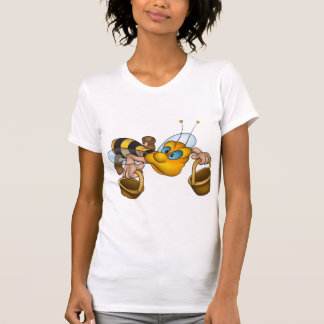 Bee With Buckets Womens T-Shirt