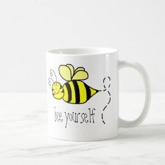 Bee yourself coffee mug