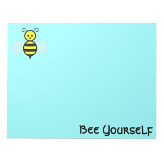 """""""Bee Yourself"""" Notepad"""