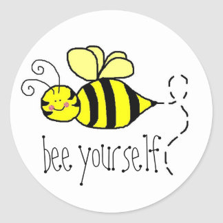Bee Yourself stickers