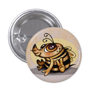 BEEBEE CUTE CARTOON Small, 1¼ Inch 3 Cm Round Badge