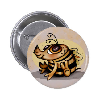 BEEBEE CUTE CARTOON Standard, 2¼ Inch 6 Cm Round Badge