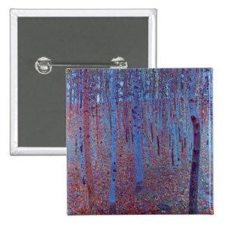 Beech Forest by Gustav Klimt 15 Cm Square Badge
