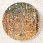 Beech Forest by Gustav Klimt Coasters