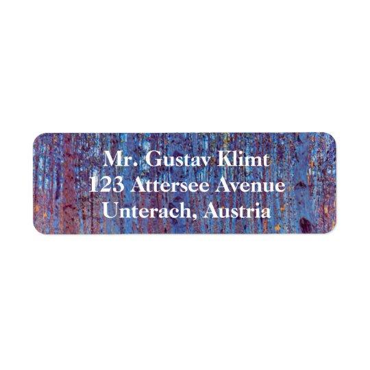 Beech Forest by Gustav Klimt, Vintage Art Nouveau Return Address Label