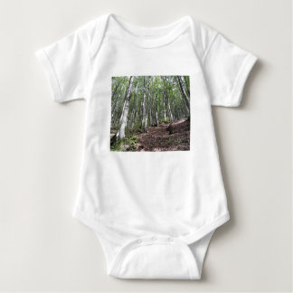 Beech forest landscape in summer . Tuscany, Italy Baby Bodysuit