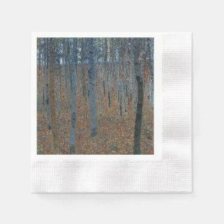 Beech Grove I by Gustav Klimt Paper Napkin