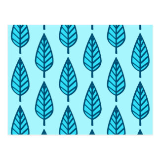 Beech leaf pattern - Shades of sky blue Postcards