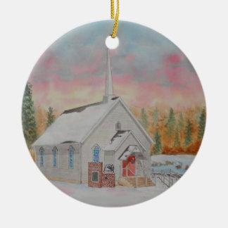 Beech Valley United Methodist Church Round Ceramic Decoration