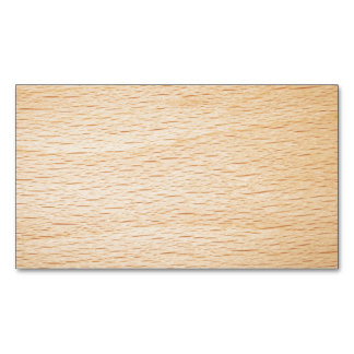 Beech Wood Texture For Background Magnetic Business Cards