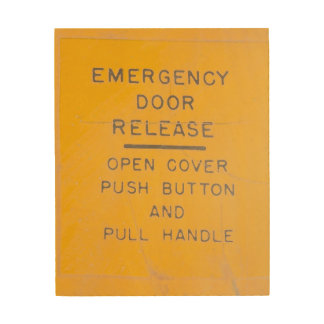 Beechcraft Model 18 Emergency Door Release Design Wood Wall Decor
