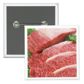 Beef 2 15 cm square badge