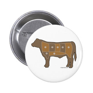 Beef chart meat pinback button