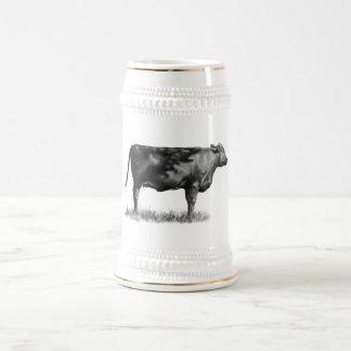 Beef Cow/Heifer in Pencil: Realism: Drawing Beer Steins
