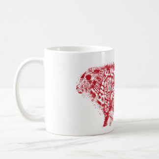 Beef Eater's Chart_Grunge style Basic White Mug
