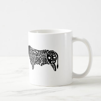 Beef Eater's Chart Basic White Mug