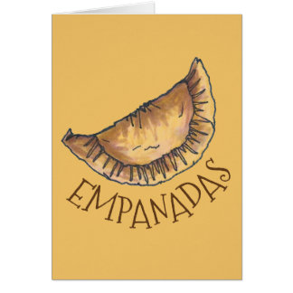 Beef Empanadas Latin American Spanish Pastry Food Card