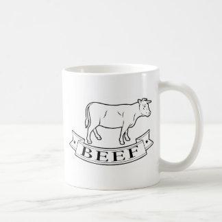 Beef food label coffee mug