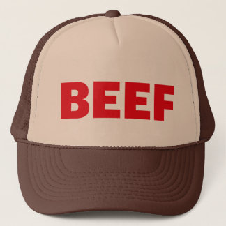 BEEF fun slogan trucker hat