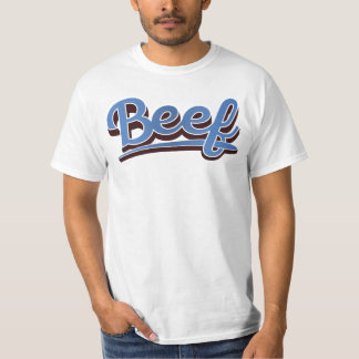 Beef in gradient blue-  t-shirt
