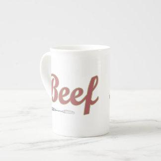 Beef n' Fork Bone China Mug