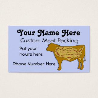 Beef packing and slaughter business card