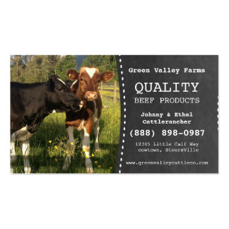 Beef Producer Cattle Farm Business Card Template