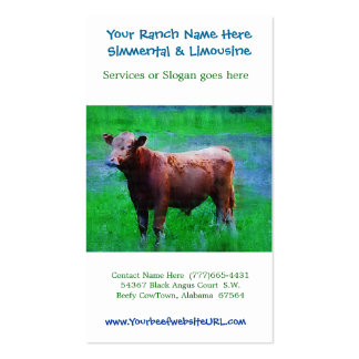 Beef Ranch Cattle Farming Business Card Templates