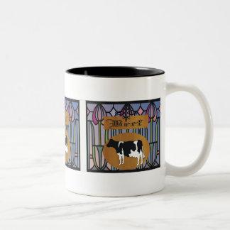 Beef sign Two-Tone mug