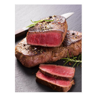 Beef steak postcard
