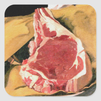 Beef Steak Vintage Art by Felix Vallotton Square Sticker
