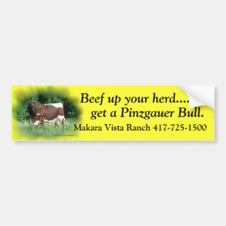 Beef Up Your Herd-add your name Bumper Sticker
