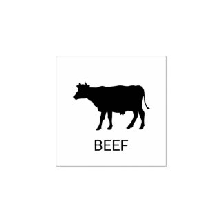 Beef Wedding Meal Choice Rubber Stamp