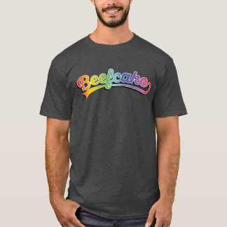 Beefcake in rainbow pride T-Shirt