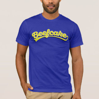 Beefcake in yellow + shadow T-Shirt