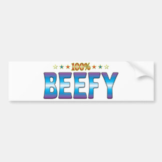 Beefy Star Tag v2 Bumper Stickers