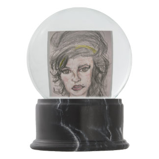 Beehive Girl Snow Globe