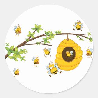 Beehive Round Sticker