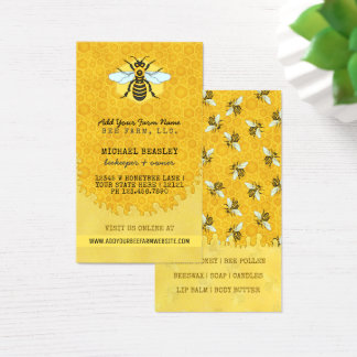 Beekeeper Apiary Bee Farm Honeybees Honeycomb Hive Business Card