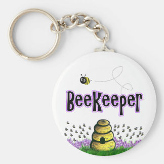 beekeeper basic round button key ring