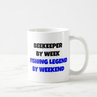 Beekeeper by Week Fishing Legend By Weekend Coffee Mug