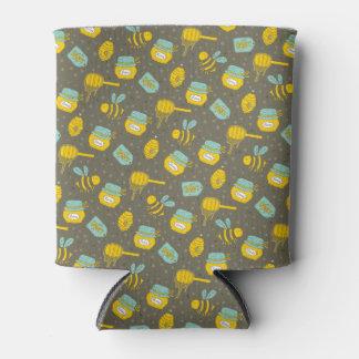 Beekeeper Honey Dipper Pattern Can Cooler