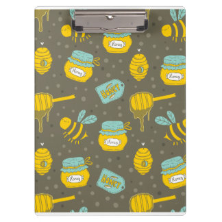 Beekeeper Honey Dipper Pattern Clipboard