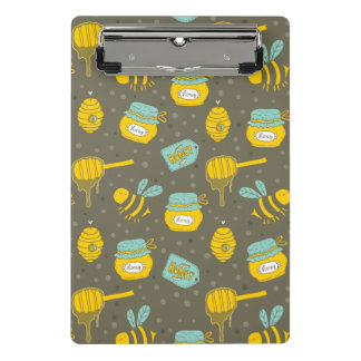 Beekeeper Honey Dipper Pattern Mini Clipboard