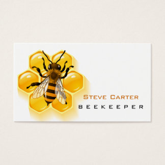 Beekeeper , Honey Seller Bee Farm Farmer Shop Business Card