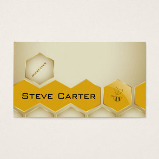 Beekeeper , Honey Seller Bee Farmer Seller Shop Business Card